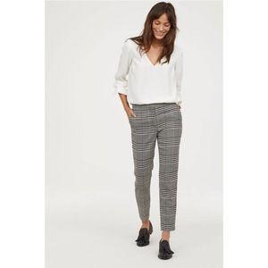 H&M Black Gray White Plaid Dress Pants
